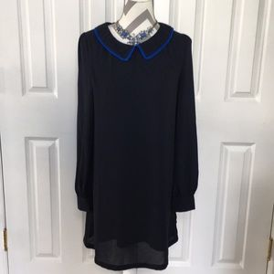 Tinley Road Navy Collared Dress with Lining S